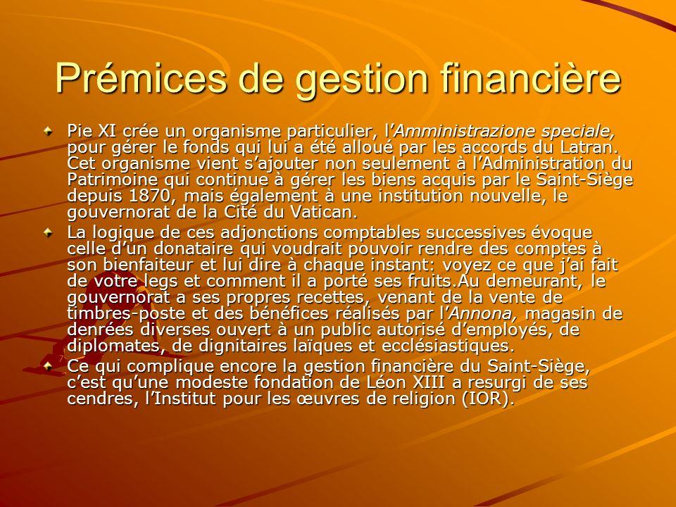 Prémices de gestion financière