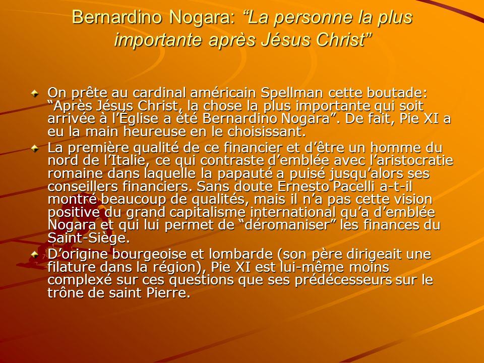 Bernardino Nogara: La personne la plus importante après Jésus Christ