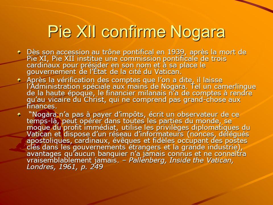 Pie XII confirme Nogara