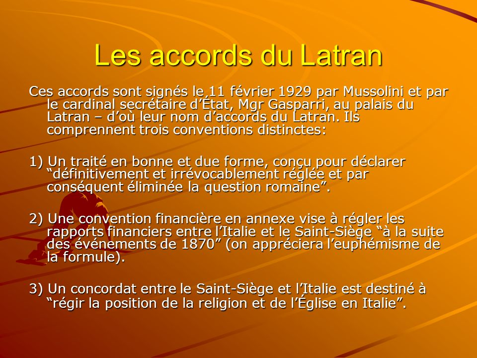Les accords du Latran
