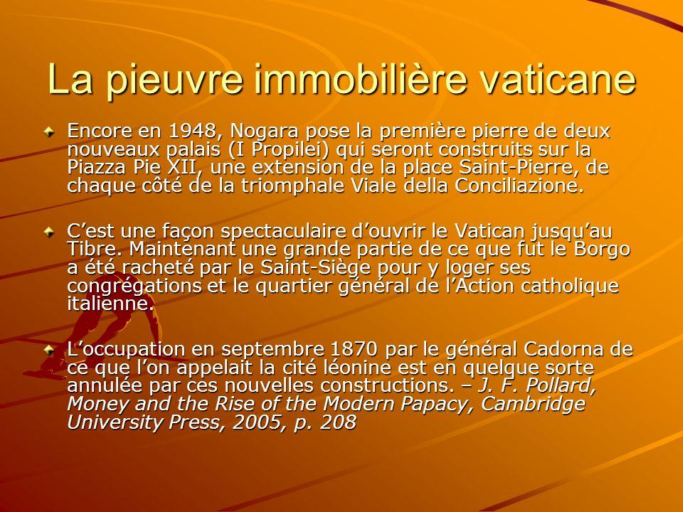 La pieuvre immobilière vaticane