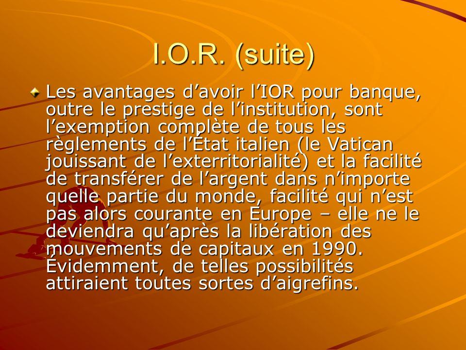 I.O.R. (suite)