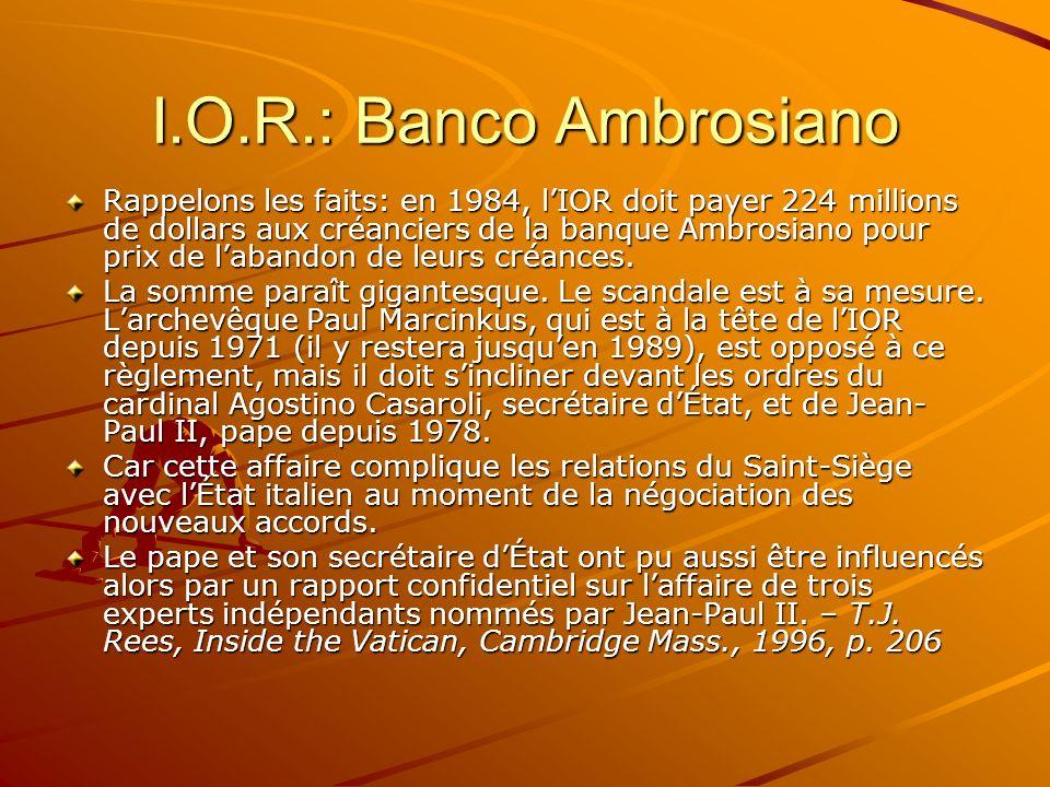 I.O.R.: Banco Ambrosiano