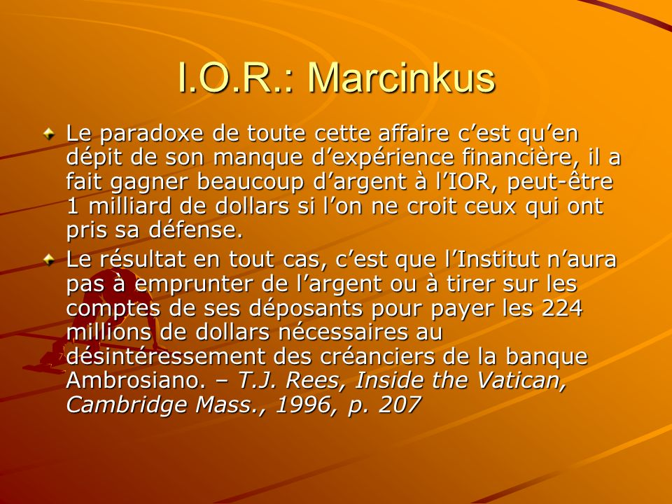 I.O.R.: Marcinkus