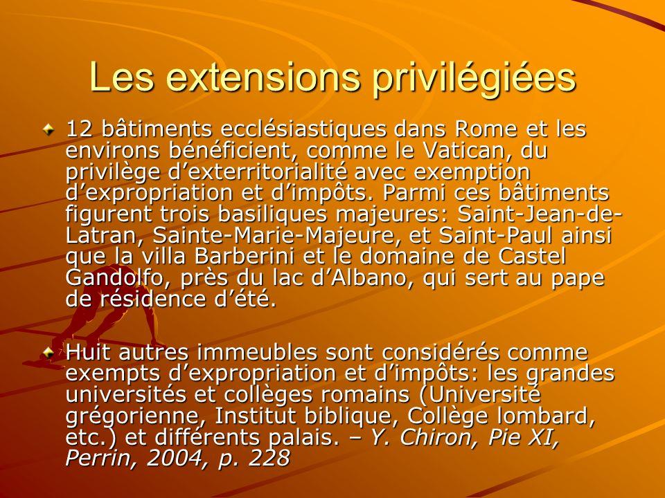 Les extensions privilégiées
