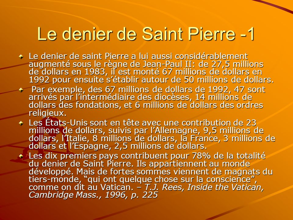 Le denier de Saint Pierre -1