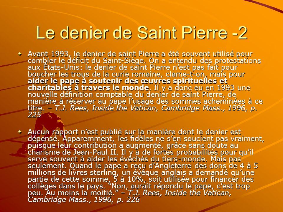 Le denier de Saint Pierre -2