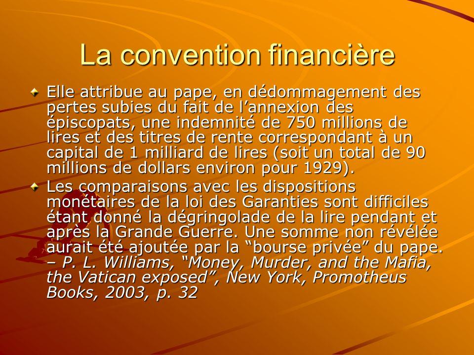 La convention financière