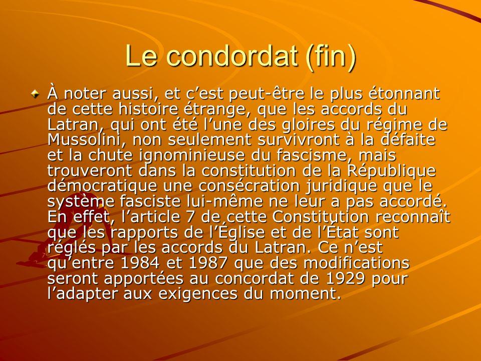 Le condordat (fin)