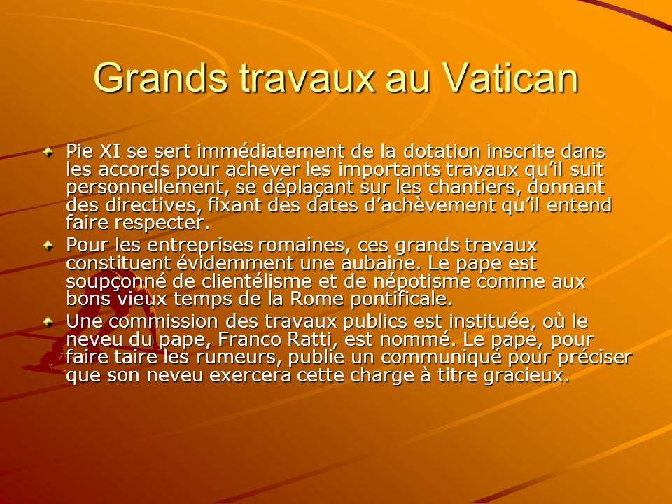 Grands travaux au Vatican