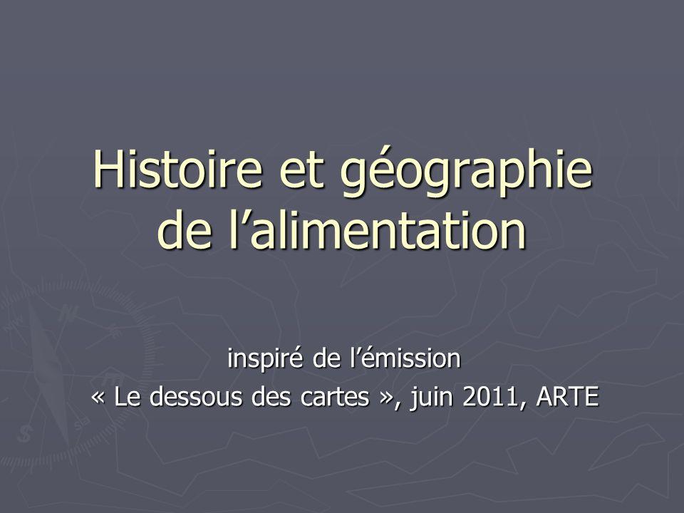 Histoire et géographie de l'alimentation