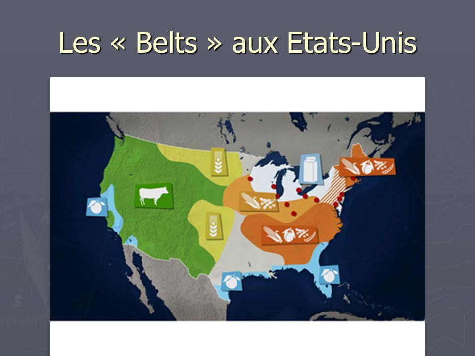 Les « Belts » aux Etats-Unis