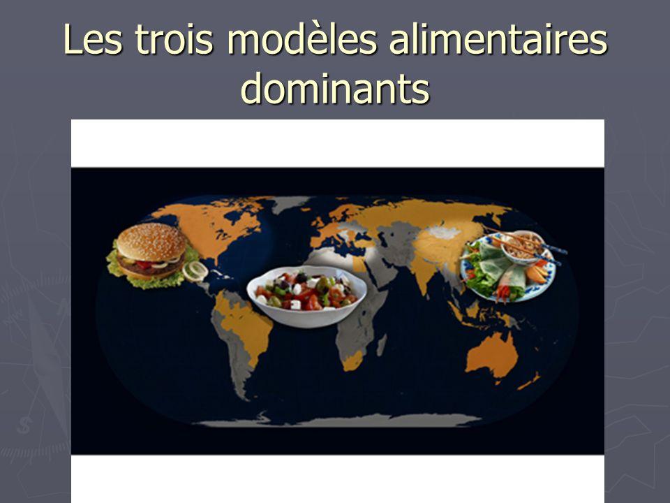 Les trois modèles alimentaires dominants