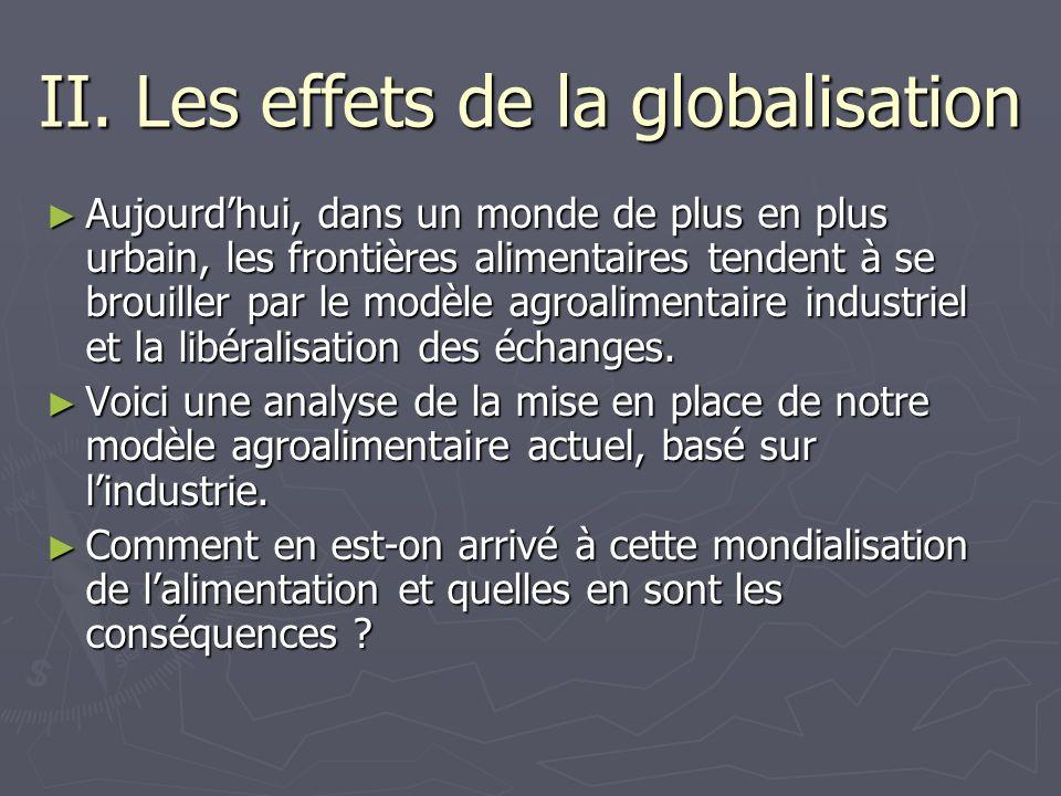 II. Les effets de la globalisation