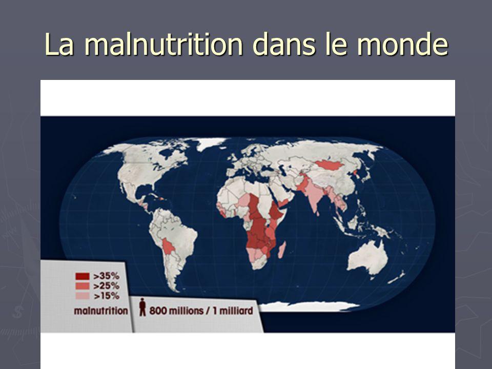 La malnutrition dans le monde