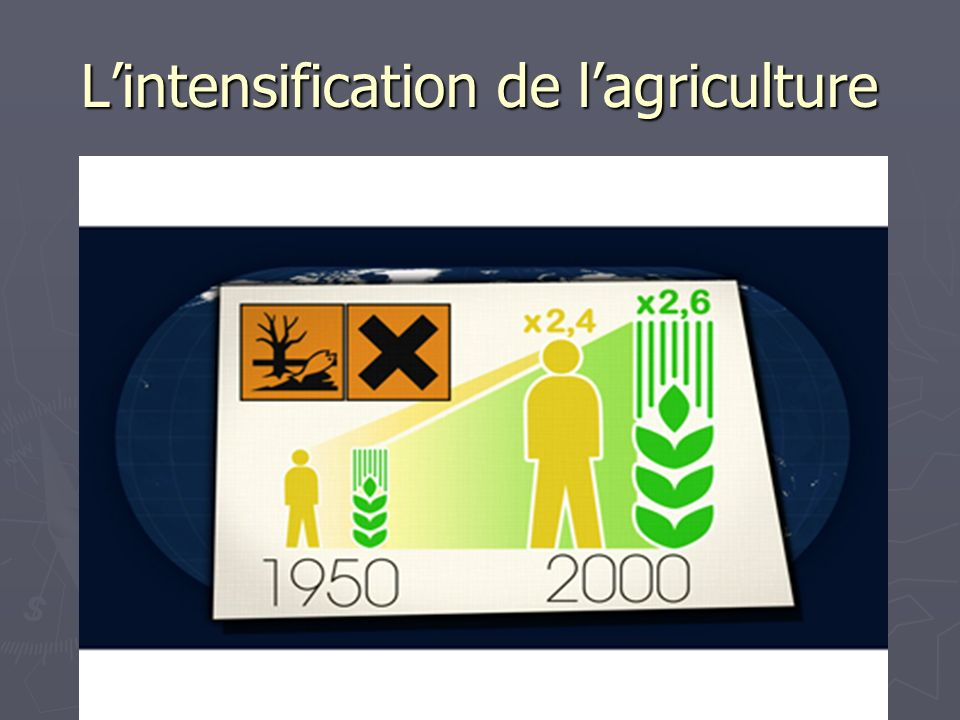 L'intensification de l'agriculture