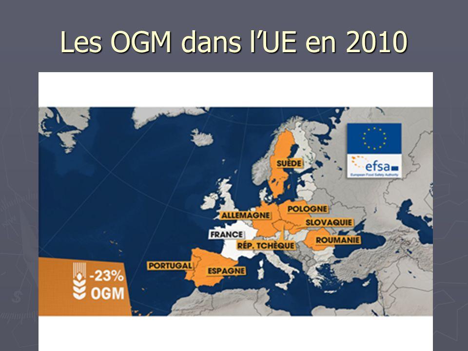 Les OGM dans l'UE en 2010 Regardons ce qui se passe dans l'Union européenne.