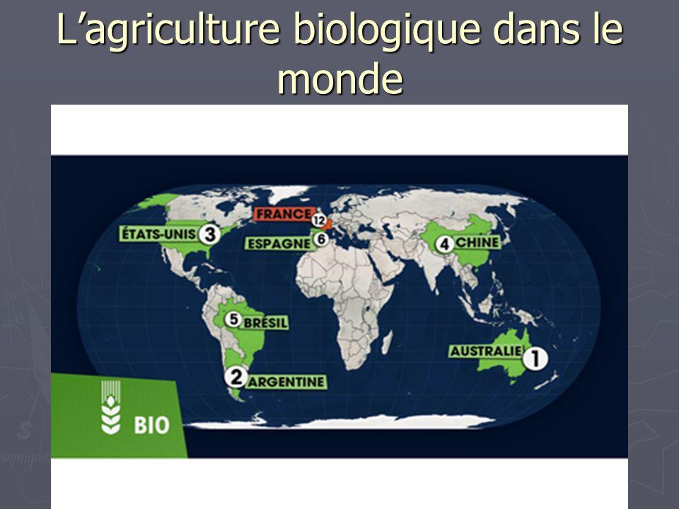 L'agriculture biologique dans le monde