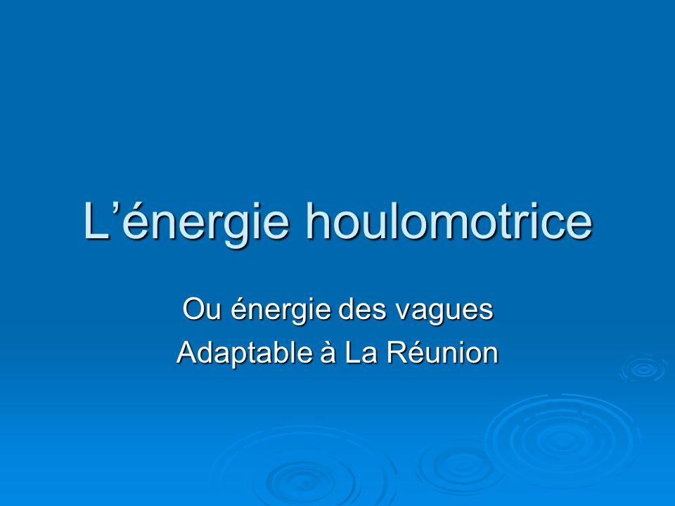 L'énergie houlomotrice