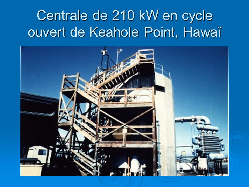 Centrale de 210 kW en cycle ouvert de Keahole Point, Hawaï