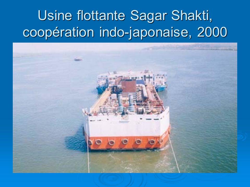 Usine flottante Sagar Shakti, coopération indo-japonaise, 2000