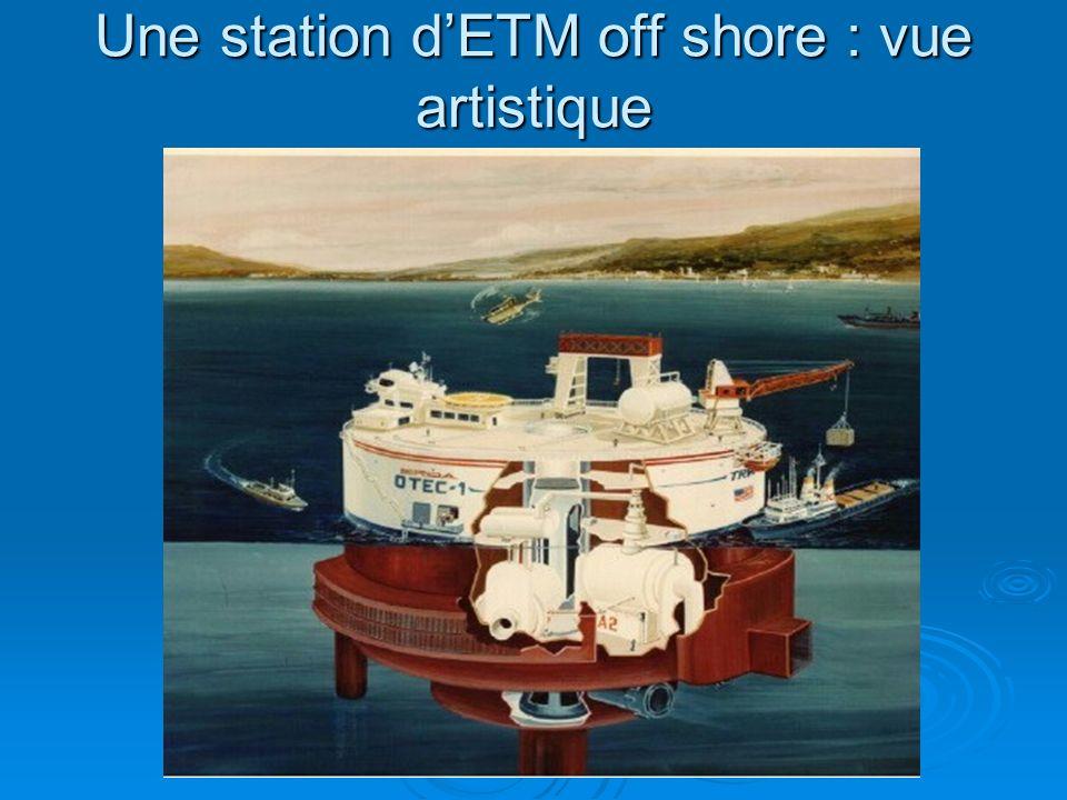 Une station d'ETM off shore : vue artistique