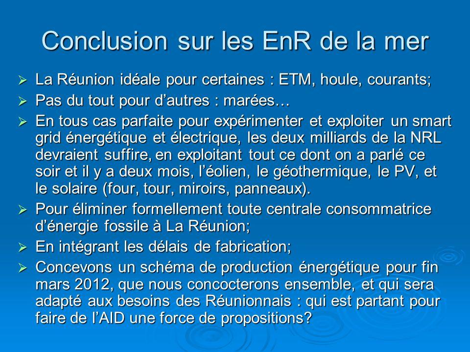 Conclusion sur les EnR de la mer