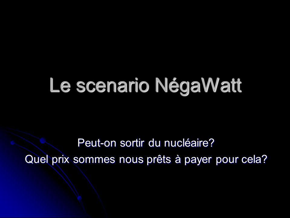 Le scenario NégaWatt Peut-on sortir du nucléaire