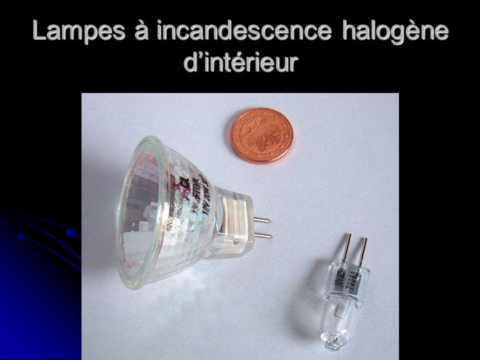 Lampes à incandescence halogène d'intérieur