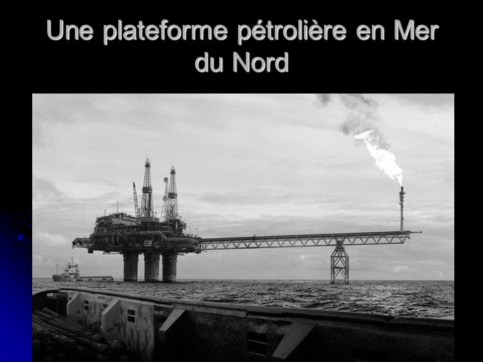 Une plateforme pétrolière en Mer du Nord
