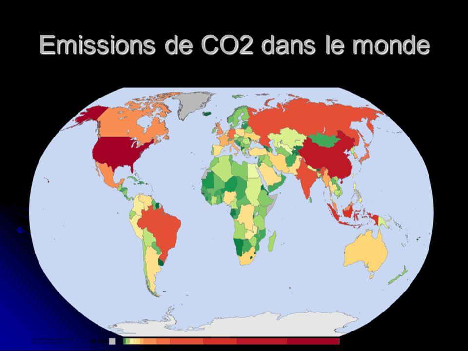 Emissions de CO2 dans le monde