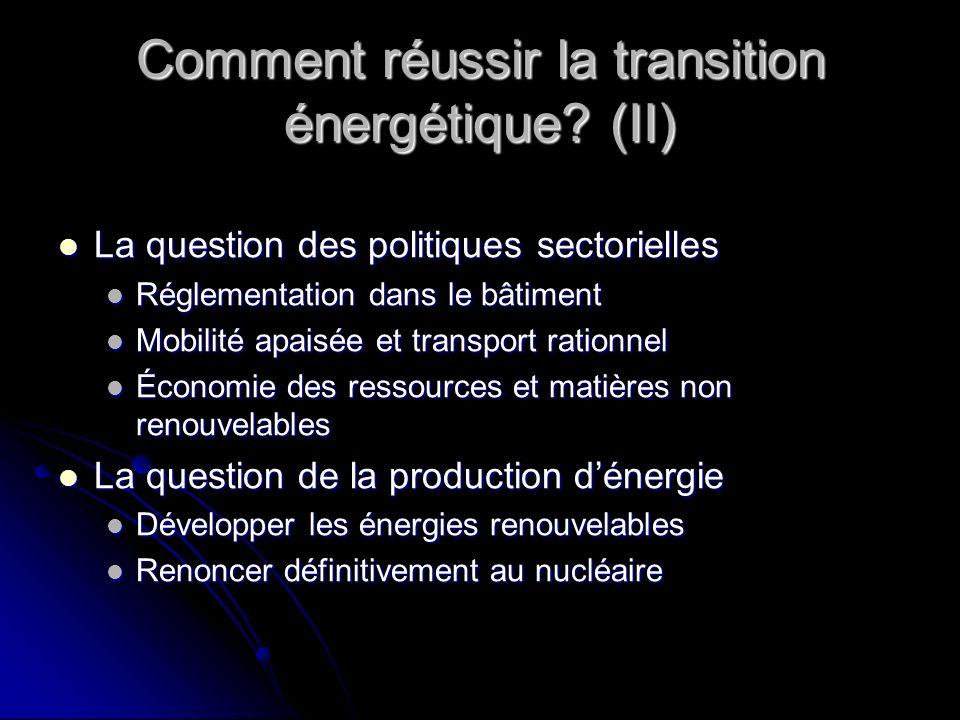 Comment réussir la transition énergétique (II)