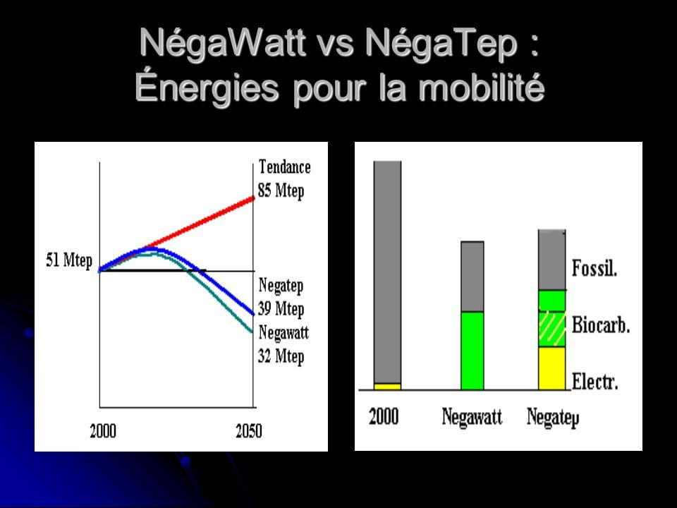 NégaWatt vs NégaTep : Énergies pour la mobilité