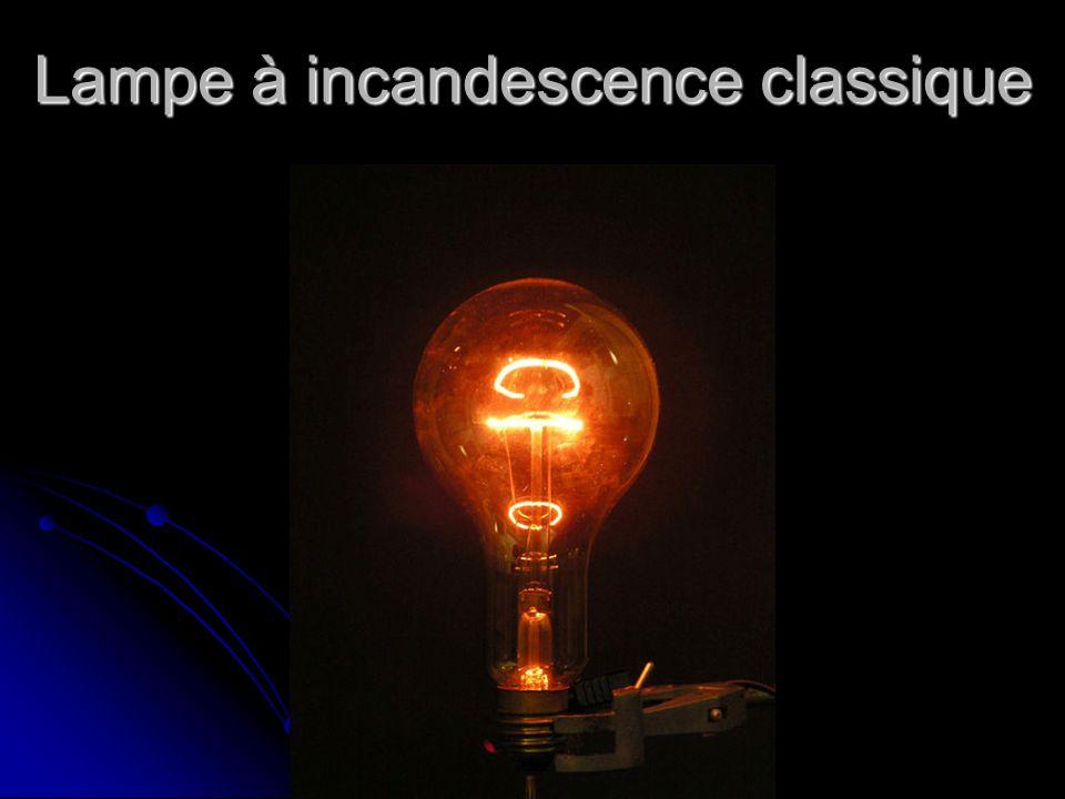 Lampe à incandescence classique