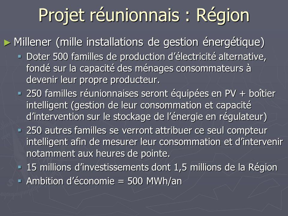 Projet réunionnais : Région
