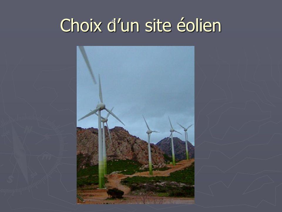 Choix d'un site éolien Ici le parc éolien de Calenzana en haute Corse.