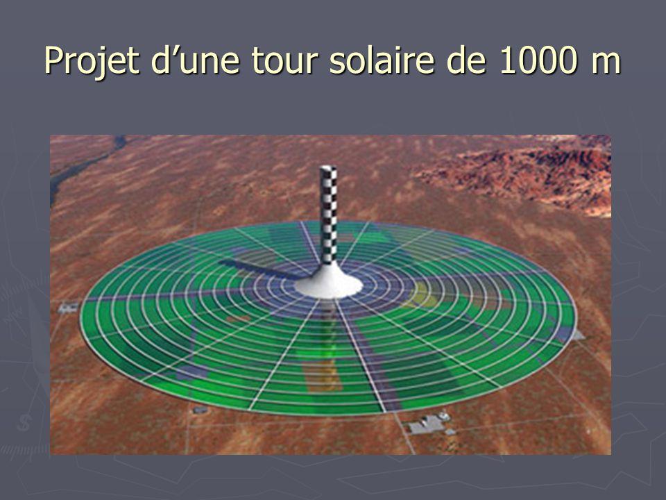 Projet d'une tour solaire de 1000 m