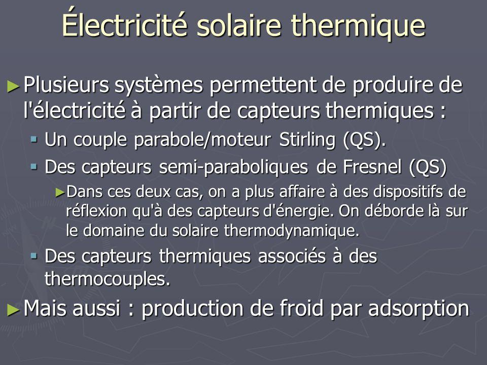 Électricité solaire thermique
