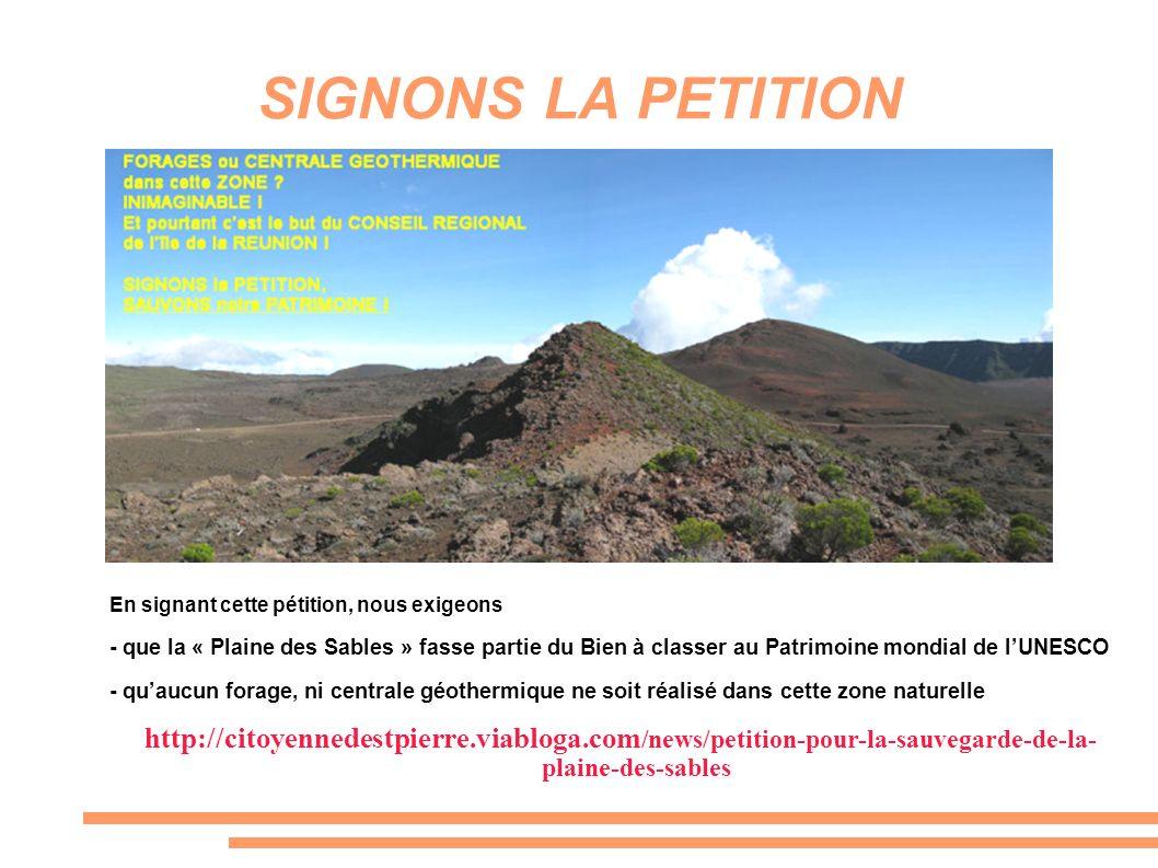 SIGNONS LA PETITION En signant cette pétition, nous exigeons.