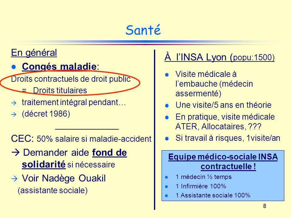 Equipe médico-sociale INSA contractuelle !