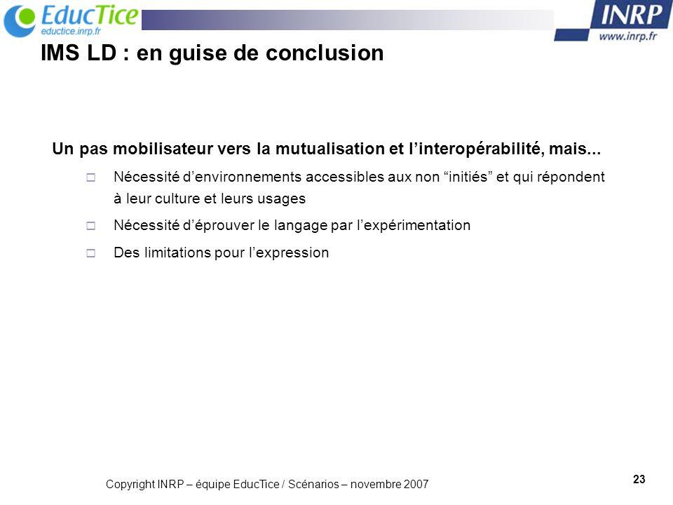 IMS LD : en guise de conclusion