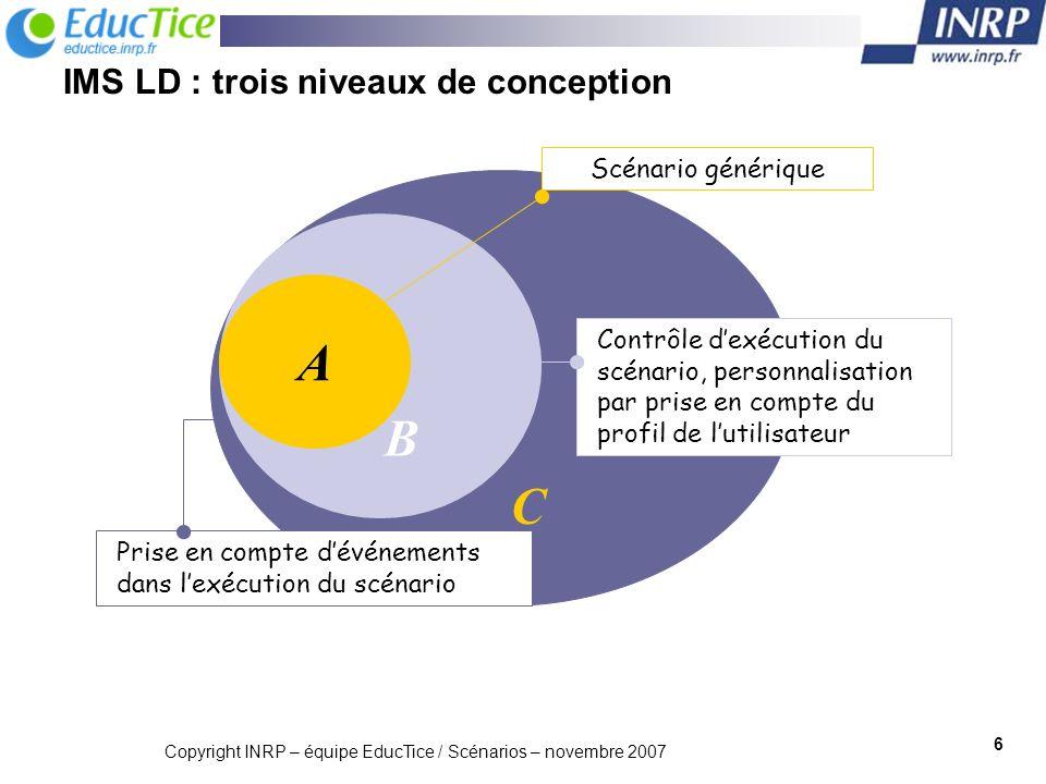 IMS LD : trois niveaux de conception