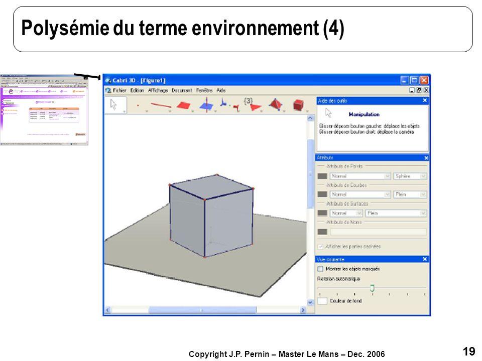 Polysémie du terme environnement (4)