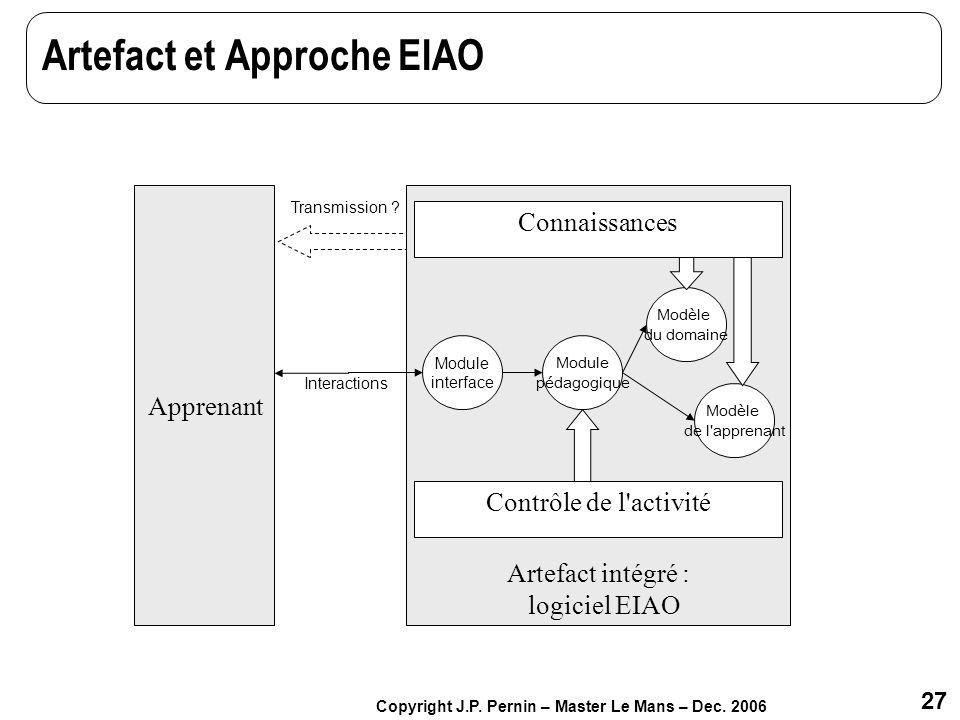 Artefact et Approche EIAO