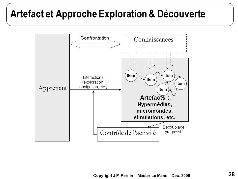 Artefact et Approche Exploration & Découverte