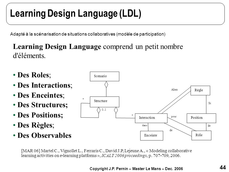 Learning Design Language (LDL)