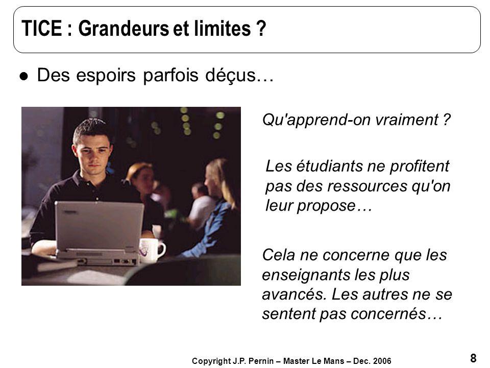 TICE : Grandeurs et limites