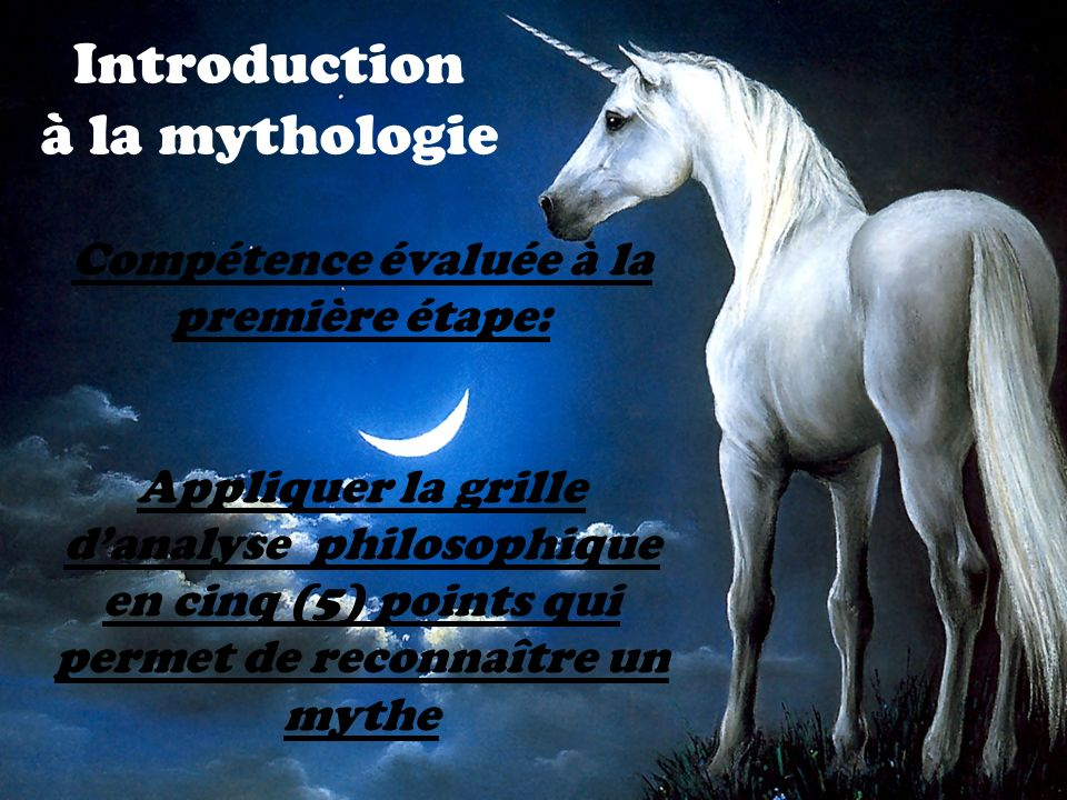 Introduction à la mythologie