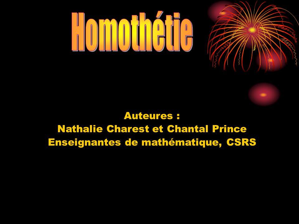 Homothétie Auteures : Nathalie Charest et Chantal Prince