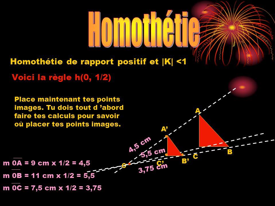 Homothétie Homothétie de rapport positif et |K| <1